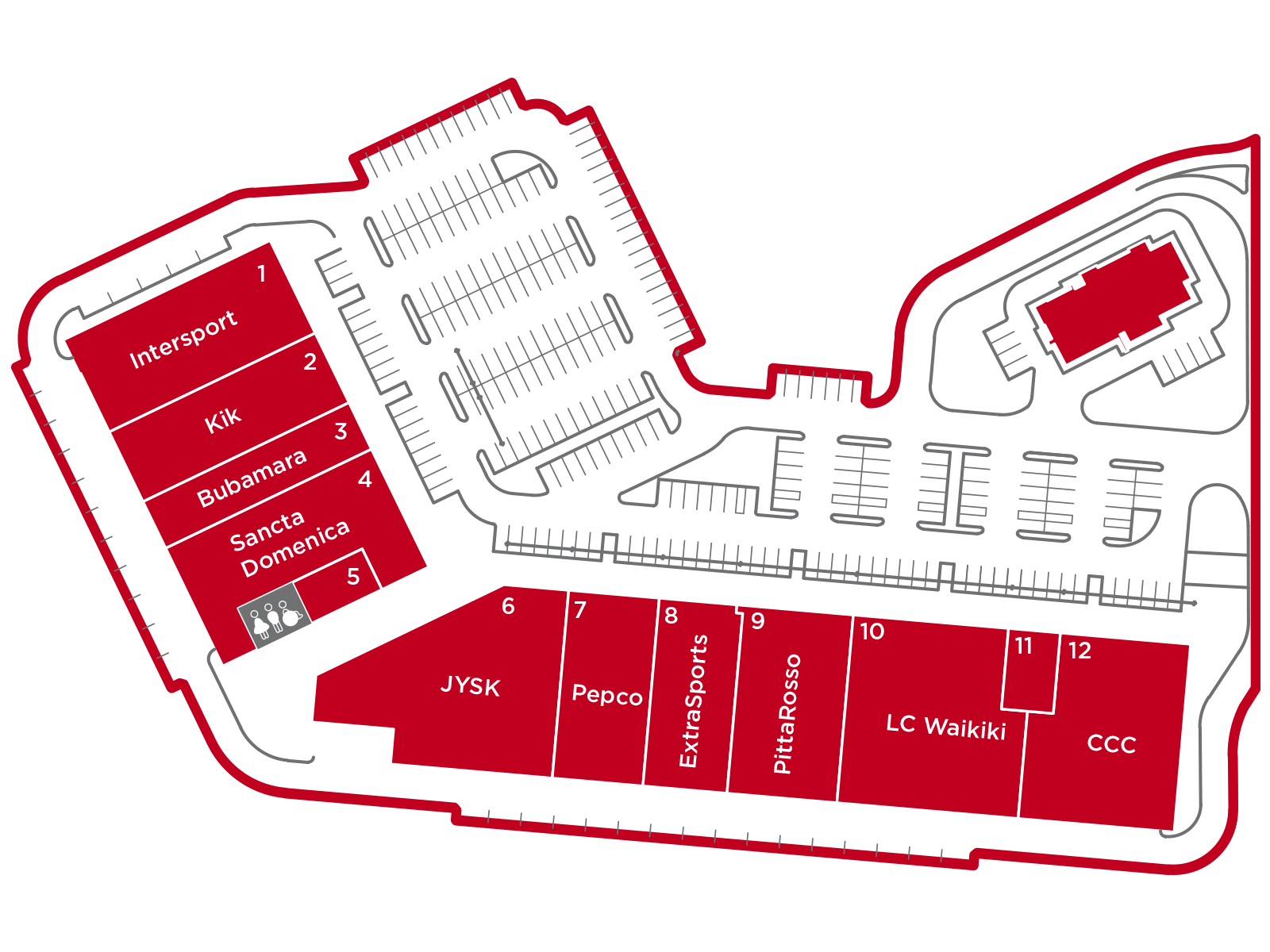 Mapa Arena Parka Arena Park